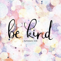 Be Kind, inspirational scripture art, hand lettering, from StudioJRU