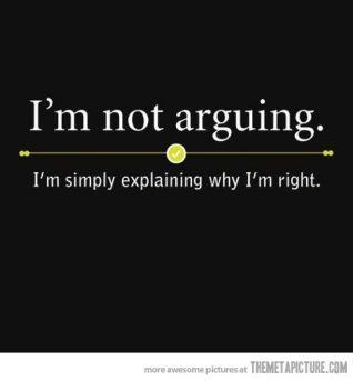 im not arguing