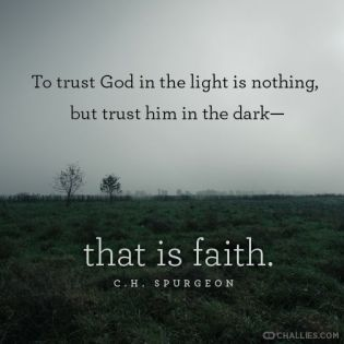 to trust god in the dark