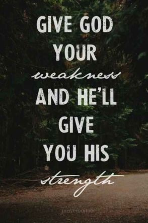 weakness to god